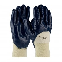ArmorTuff® Nitrile Dipped Glove with Jersey Liner and Smooth Finish on Palm, Fingers & Knuckles - Knitwrist  (#56-3151)