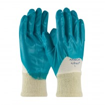 ArmorFlex® Nitrile Dipped Glove with Interlock Liner and Smooth Finish on Palm, Fingers & Knuckles - Knitwrist  (#56-3180)