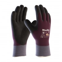 MaxiDry® Zero™ Seamless Knit Nylon/Lycra Glove with Thermal Lining and Double-Dipped Nitrile Coated MicroFoam Grip on Full Hand (#56-451)