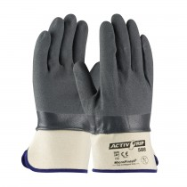 ActivGrip™ Nitrile Coated Glove with Cotton Liner and MicroFinish Grip - Safety Cuff  (#56-AG588)