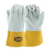 Ironcat® Ironcat® Premium Top Grain Deerskin Leather Tig Glove with Kevlar® Stitching- Split Leather Gauntlet Cuff  (#6130)