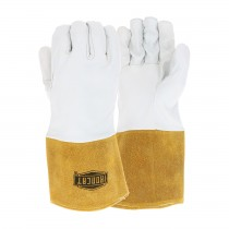 Ironcat® Ironcat® Premium Top Grain Kidskin Leather Tig Glove with Kevlar® Stitching- Split Leather Gauntlet Cuff  (#6141)