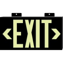 Glo Brite Exit Sign, Black (#7001)