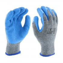 PIP® Seamless Knit Polyester Glove with Latex Coated Crinkle Grip on Palm & Fingers - Regular Grade  (#700SLCE)