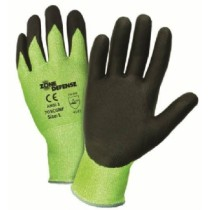 Zone Defense® Hi-Vis Seamless Knit HPPE Blended Glove with Nitrile Foam Coated Grip on Palm & Fingers  (#705CGNF)