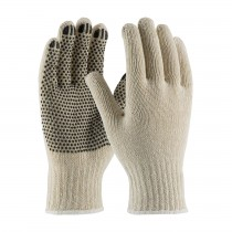 PIP® Seamless Knit Cotton / Polyester Glove with PVC Dot Grip - Medium Weight  (#708SK)