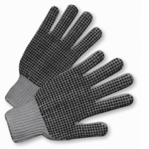 PIP® Seamless Knit Cotton / Polyester Glove with Double-Sided PVC Dot Grip - Medium Weight  (#708SKBSG)