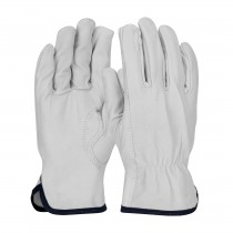 PIP® Top Grain Goatskin Leather Drivers Glove with White Cotton Lining - Keystone Thumb  (#77-3600)
