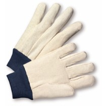 PIP® Premium Grade Cotton/Poly Canvas Single Palm Glove - Blue Knitwrist  (#710BKWK)