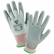 PosiGrip® Seamless Knit HPPE Blended Glove with Polyurethane Coated Smooth Grip on Palm & Fingers  (#710HGU)