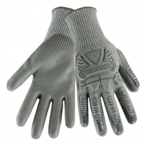R2 Silver Fox™ Seamless Knit HPPE Blended Glove with Impact Protection and Polyurethane Coated Smooth Grip on Palm & Fingers  (#710HGUB)