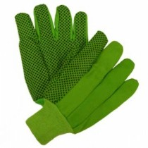 10oz. Hi-Vis Green Plastic Dot Canvas Glove (#710KGRPD)