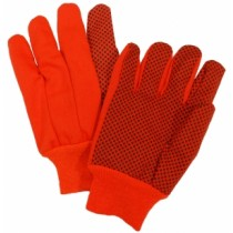 10oz. Hi-Vis Orange Plastic Dot Canvas Gloves (#710KORPD)
