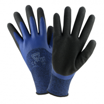 West Chester® Seamless Knit Polyester Glove, 3/4 Dipped with Sandy Foam Latex Coated Grip on Palm & Fingers  (#713BLDD)