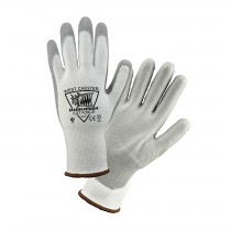 Barracuda® Seamless Knit HPPE Blended Glove with Polyurethane Coated Smooth Grip on Palm & Fingers  (#713CFHGWU)