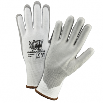 Barracuda White HPPE Shell with Gray Dipped Gloves (#713HGWU)