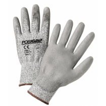 PosiGrip® Seamless Knit PolyKor® Blended Glove with Polyurethane Coated Smooth Grip on Palm & Fingers - Touchscreen Compatible  (#713HUTS)