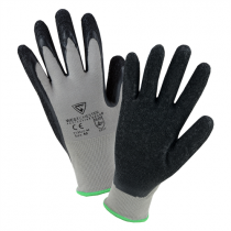 PosiGrip® Seamless Knit Nylon Glove with Latex Coated Crinkle Grip on Palm & Fingers  (#713SLC)