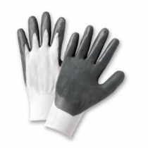 PosiGrip® Seamless Knit Polyester Glove with Nitrile Coated Smooth Grip on Palm & Fingers  (#713SNC)