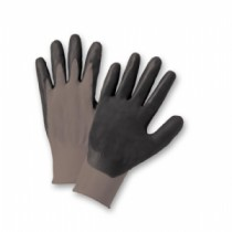 PosiGrip® Seamless Knit Polyester Glove with Nitrile Coated Foam Grip on Palm & Fingers  (#713SNF)