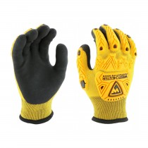 Barracuda® Seamless Knit HPPE/Nylon Glove w/ Acrylic Liner and Latex MicroSurface Grip - TPR Impact Protection  (#713WHPTPDB)