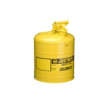 Justrite Type I Safety Can, Yellow, 5 gallon (#7150200)