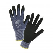 Barracuda® Seamless Knit HPPE Blended Glove with Nitrile Coated Foam Grip on Palm & Fingers  (#715HNFR)