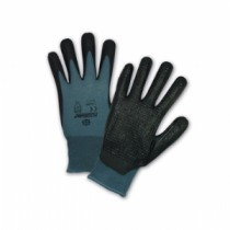 PosiGrip® Seamless Knit Nylon Glove with Nitrile Foam Grip on Palm & Fingers and Dotted Palm  (#715SBP)