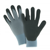 Black Foam Nitrile Palm Dip on Gray Nylon Shell Glove (#715SNFTIP)