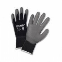 PosiGrip® Seamless Knit Nylon Glove with Polyurethane Coated Smooth Grip on Palm & Fingers  (#715SUGB)