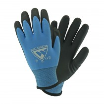 West Chester® Seamless Knit Nylon Glove with Acrylic Lining and Latex Coated MicroSurface Grip on Palm & Fingers  (#715WHPTPD)