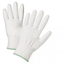 Whit Polyurethane Coated White HPPE Fiber Gloves (#720DWU)