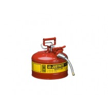 Justrite Type II AccuFlow Safety Can, 2.5 gallon, Red (#7225120)