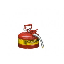 Justrite Type II AccuFlow Safety Can, 2.5 gallon, Red (#7225130)