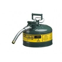 Justrite Type II AccuFlow Safety Can, 2.5 gallon, Green (#7225430)