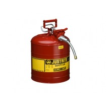 Justrite Type II AccuFlow Safety Can, 5 gallon, Red (#7250120)