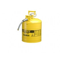 Justrite Type II AccuFlow Safety Can, 5 gallon, Yellow (#7250220)