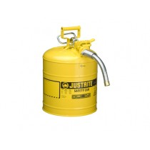 Justrite Type II AccuFlow Safety Can, 5 gallon, Yellow (#7250230)