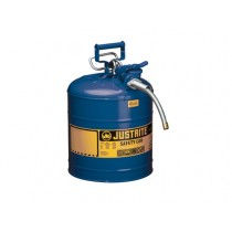Justrite Type II AccuFlow Safety Can, 5 gallon, Blue (#7250320)