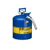 Justrite Type II AccuFlow Safety Can, 5 gallon, Blue (#7250330)