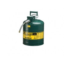 Justrite Type II AccuFlow Safety Can, 5 gallon, Green (#7250420)