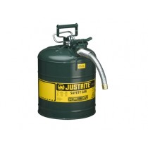Justrite Type II AccuFlow Safety Can, 5 gallon, Green (#7250430)