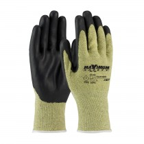 Maximum Safety® AR/FR Seamless Knit Aramid Glove with Nitrile Coated Smooth Grip on Palm & Fingers  (#73-K1800)