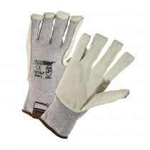 PosiGrip® Seamless Knit HPPE Blended Glove with Split Cowhide Leather Palm and Kevlar® Stitching  (#730TGLP)