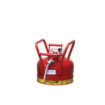 Justrite D.O.T. Type II Safety Can, 2.5 gallon, Red (#7325120)