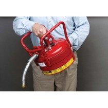 Justrite Type II D.O.T. Safety Can, 2.5 gallon, Red (#7325130)