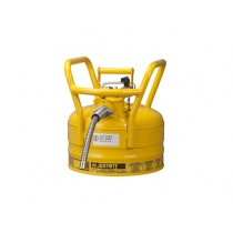 Justrite D.O.T. Type II Safety Can, 2.5 gallon, Yellow (#7325220)