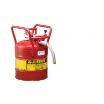 Justrite D.O.T. Type II Safety Can, 5 gallon, Red (#7350130)