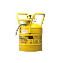 Justrite Type II D.O.T. Safety Can, 5 gallon, Yellow (#7350210)