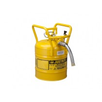Justrite D.O.T. Type II Safety Can, 5 gallon, Yellow (#7350230)